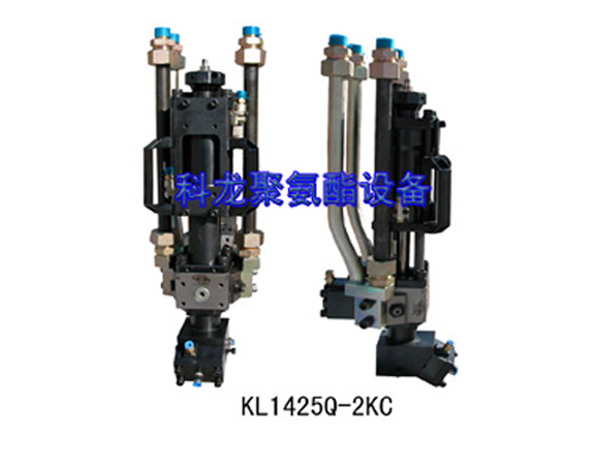 The two component with air blowing function high-pressure mixing