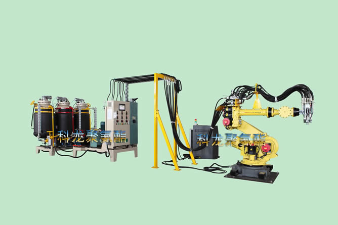 Double density robot foaming machine